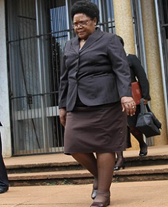 Joice Mujuru: sacked from government