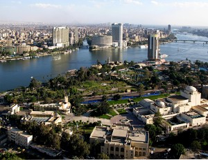 Aerial view of Cairo: the preponderance of North African cities at the top is mainly due to how long they have been established.