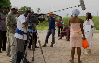 A typical set in Nollywood