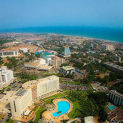View of central Accra