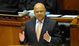 South Africa's finance minister Pravin Gordhan